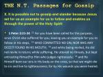 the n t passages for gossip9