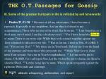 the o t passages for gossip2
