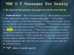 the o t passages for gossip4