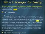 the o t passages for gossip8
