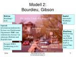 modell 2 bourdieu gibson