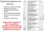 tropical ecosystems are diverse