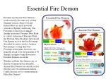 essential fire demon