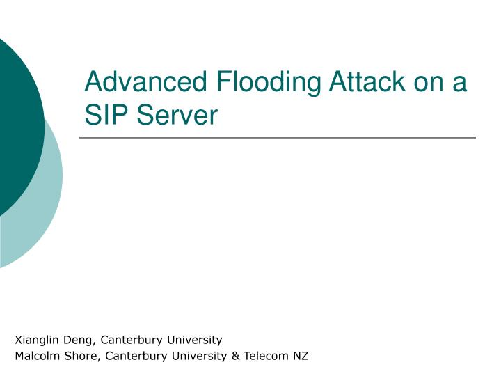 advanced flooding attack on a sip server n.