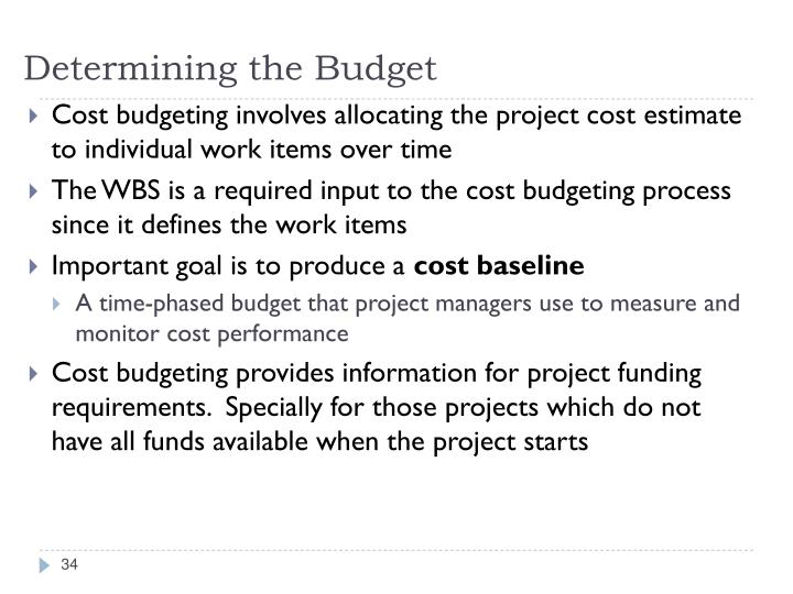 Determining the Budget