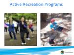 active recreation programs