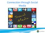 connection through social media