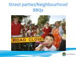 street parties neighbourhood bbqs
