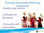 victorian community wellbeing framework