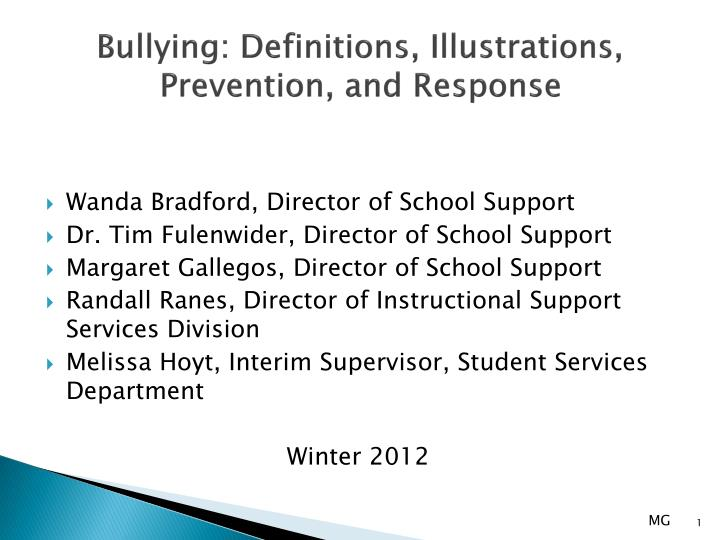 bullying definitions illustrations prevention and response n.