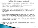 bullying why it matters continued