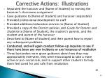 corrective actions illustrations