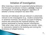 initiation of investigation