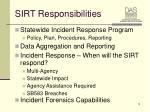 sirt responsibilities