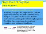 stage three of cognitive development