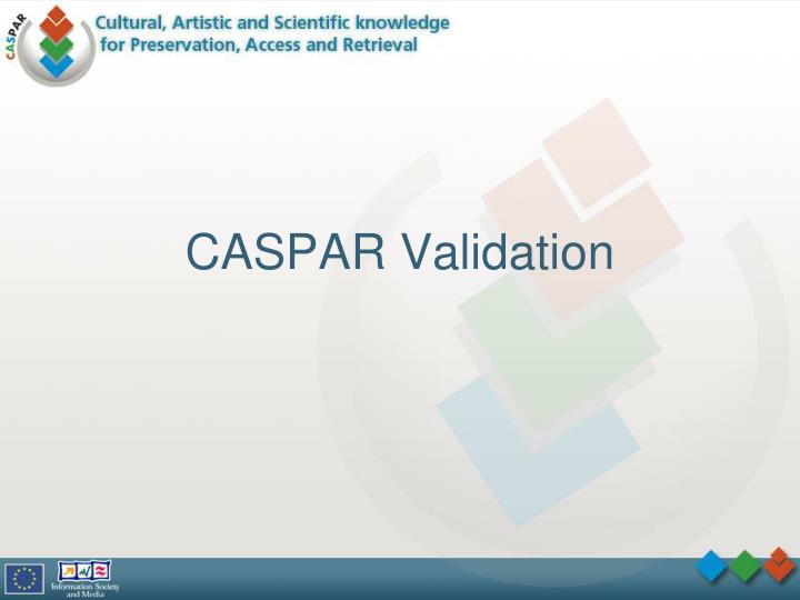 caspar validation n.