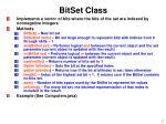 bitset class