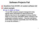 software projects fail