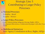 strategic line 3 contributing to larger policy processes