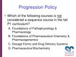 progression policy