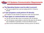 os and i o systems communication requirements