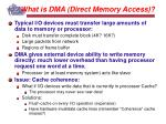 what is dma direct memory access