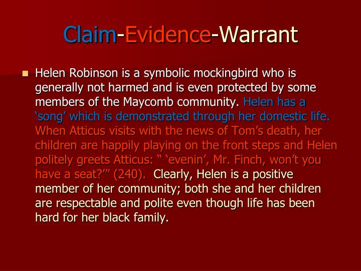 thesis claim evidence warrant Appeals and involves claims, evidence, warrants, backing, and   the claim or thesis statementis the most important sentence in your paperis an assertion.