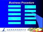 business procedure