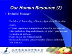 our human resource 2