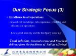 our strategic focus 3