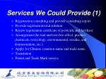 services we could provide 1