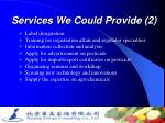 services we could provide 2