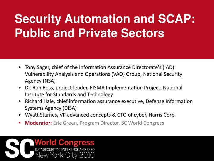 security automation and scap public and private sectors n.