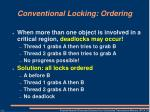 conventional locking ordering