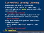 conventional locking ordering1