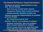 hardware software implementation