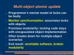 multi object atomic update