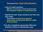 transaction size distribution