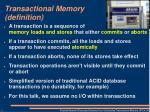 transactional memory definition