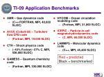 ti 09 application benchmarks