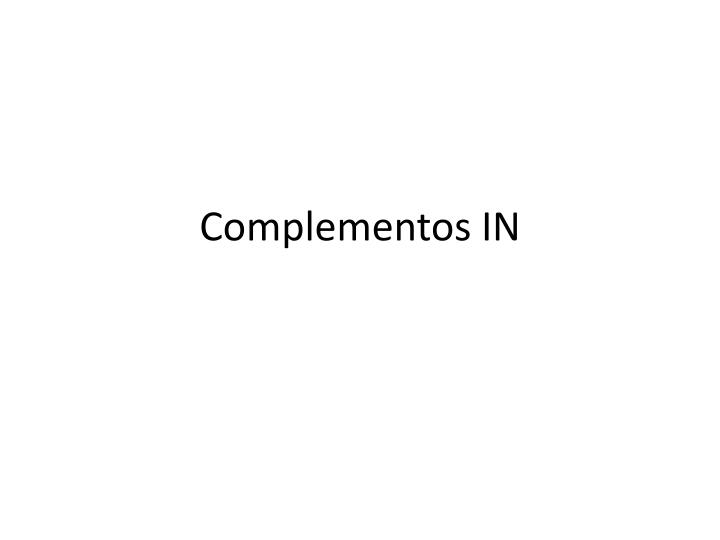 complementos in n.