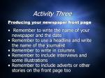 activity three