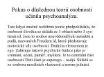 pokus o d slednou teorii osobnosti u inila psychoanal za
