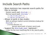 include search paths