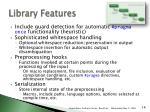 library features1