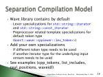separation compilation model1
