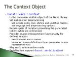 the context object1