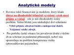 analytick modely2