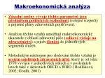 makroekonomick anal za