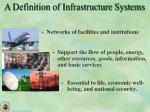 a definition of infrastructure systems